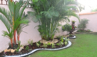 Proyectos realizados jardiner a panam for Patios chiquitos